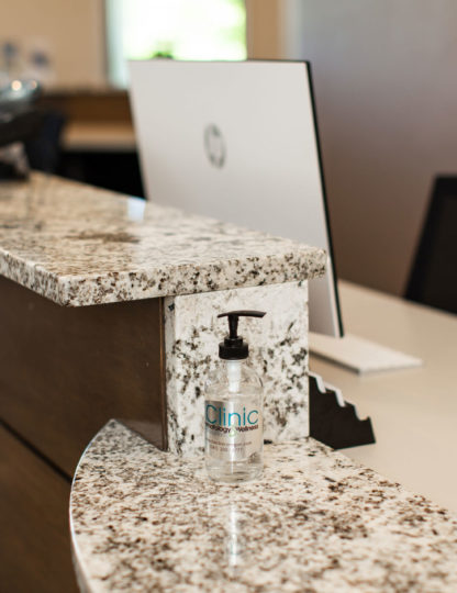 The Clinic for Dermatology and Wellness front desk
