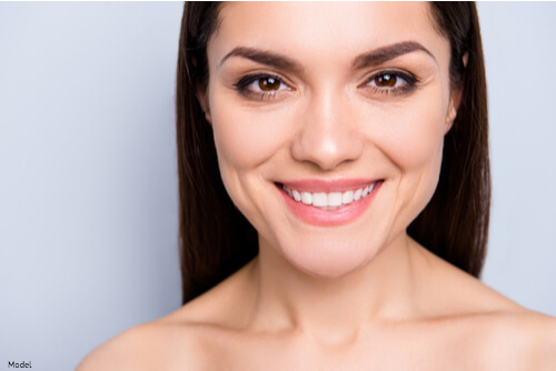 Woman With clear and smooth skin