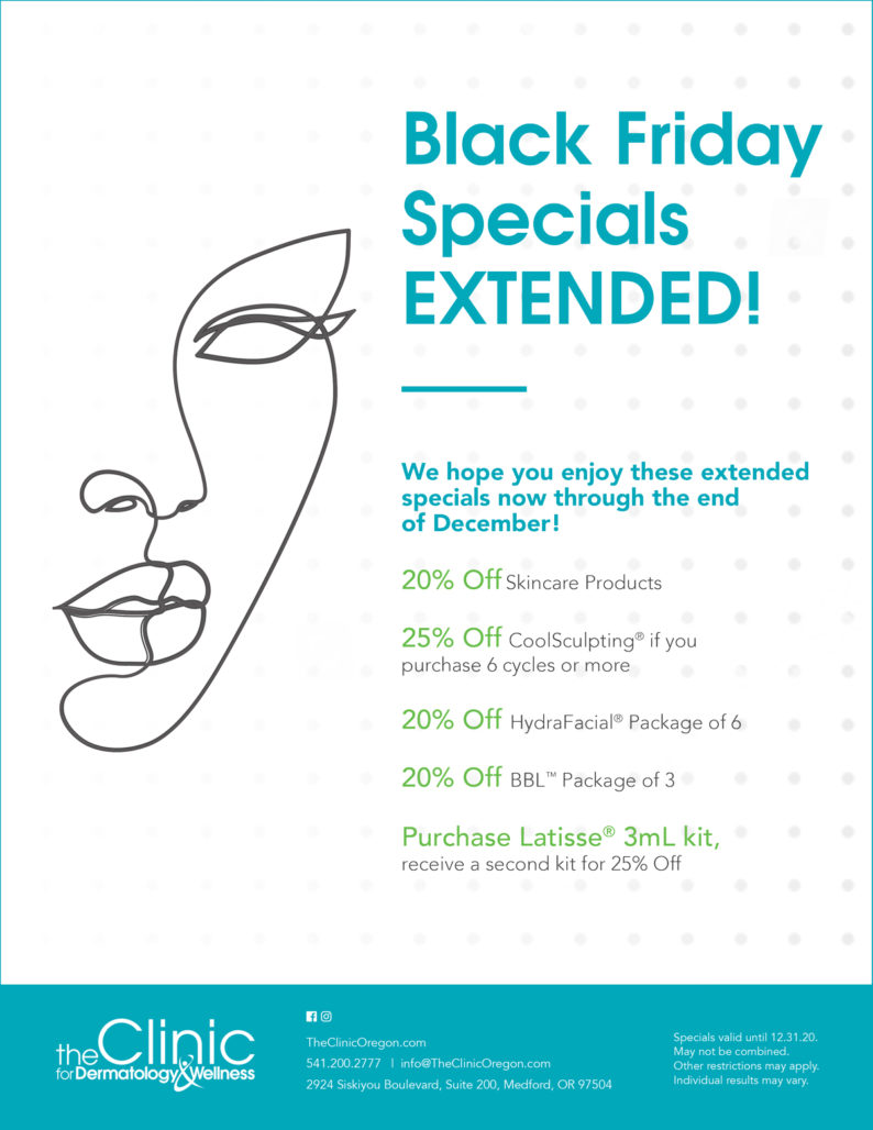 The Clinic for Dermatology & Wellness December 2020 Specials